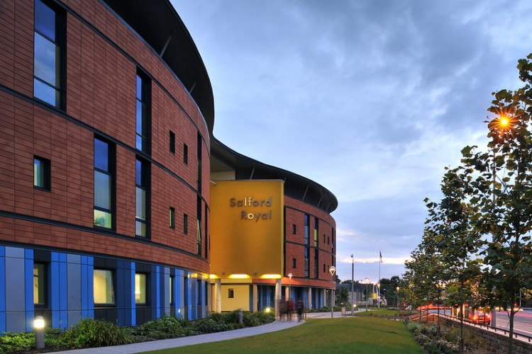 Image of the outside of Salford Royal hospital